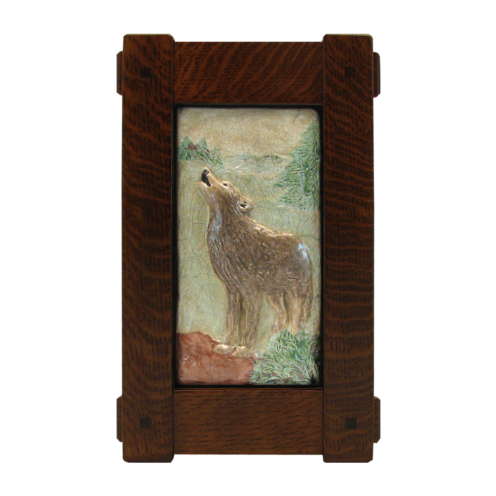 Stickley Craftsman Style Frame with Wolf Tile